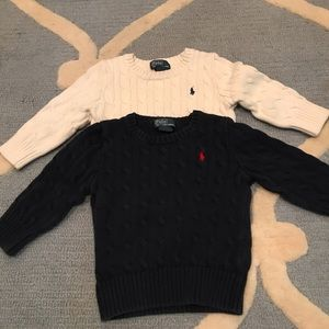 Two POLO Ralph Lauren sweaters